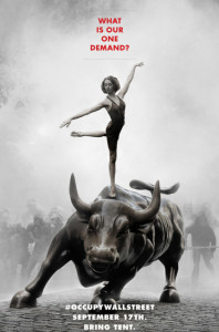 Occupy Wall Street- NY Charging Bull Poster