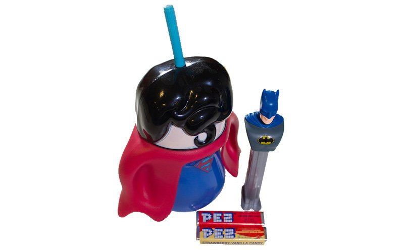 Superman cup  batman pez