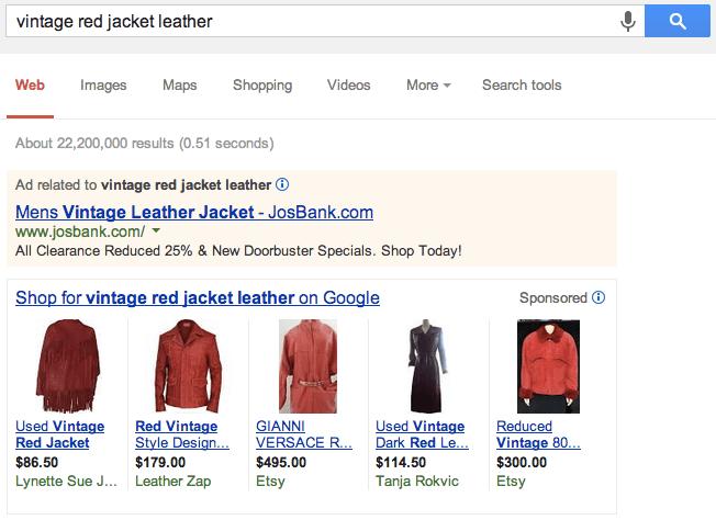 Vintage Red Jacket Leather Google Ads - Horizontal