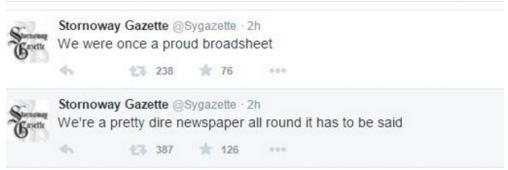 Stornoway Gazette Crisis