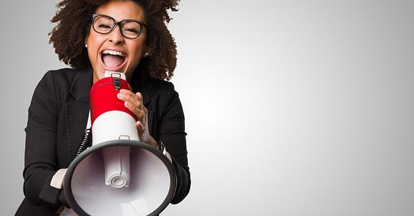 woman-with-megaphone-promoting-webinar
